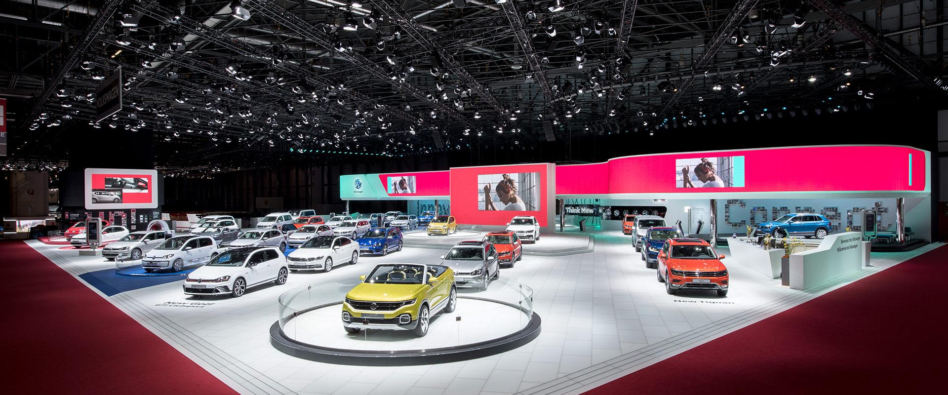 Volkswagen-Messestand Automobilsalon Genf