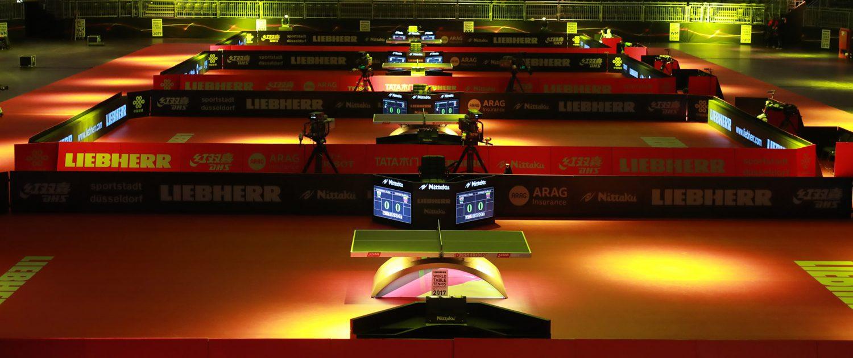 Liebherr Tischtennis-WM auf dem Messegelände Düsseldorf