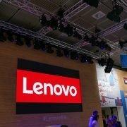 LED-Wand Lenovo Messestand IFA
