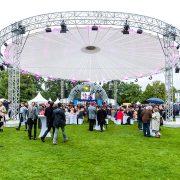 Traversenkreis als Dachkonstruktion, Bürgerfest des Bundespräsidenten