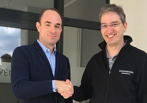 Dr. Peter Charissé (Geschäftsführer ANGA Services GmbH) und Ingo Leyendecker (CEO Leyendecker GmbH) freuen sich auf die Zusammenarbeit.